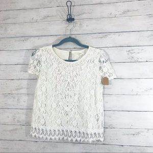 Forever 21 Lacey Crop Top - Size Small